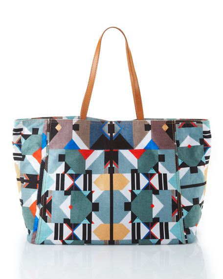66e545cf27 Cynthia Vincent Geometric-Print Canvas Tote Bag