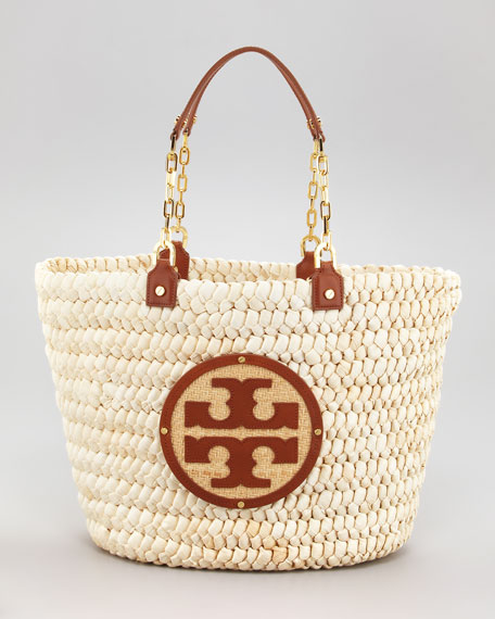 Audrey Straw Tote Bag