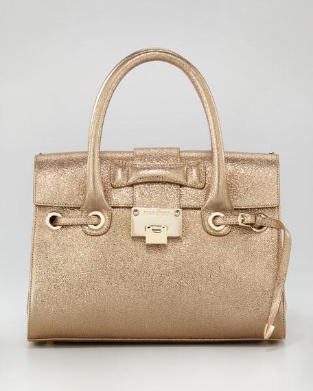 f2c71aff4c578 Jimmy Choo Glitter Rosalie Satchel Bag