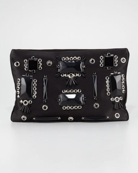 Prada Raso Ricamo Flat Clutch Bag a11022831fdc8