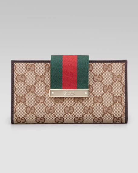 7f7f72fa6010 Gucci Web Continental Wallet