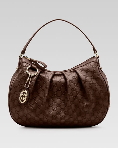 d03d258d4b5e Gucci Sukey Guccissima Leather Medium Hobo Bag, Chocolate
