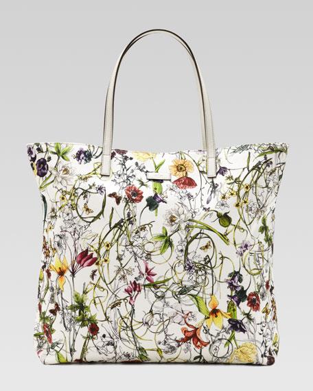 52ca4a6f6a38 Gucci Medium Flora Infinity Canvas Tote Bag