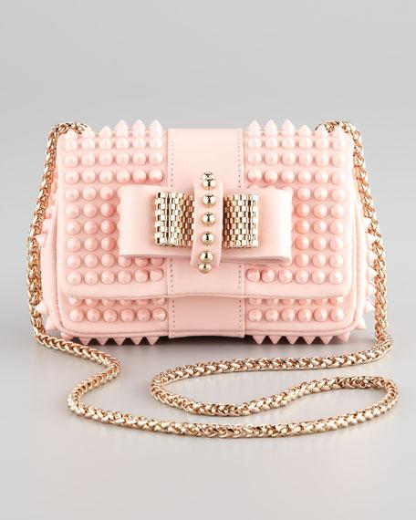 46d2dc537b3 Christian Louboutin Sweet Charity Mini Spiked Shoulder Bag, Pink