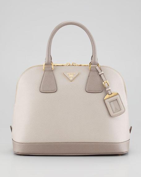 9e72f4ee5dee Prada Saffiano Bicolor Dome Bag