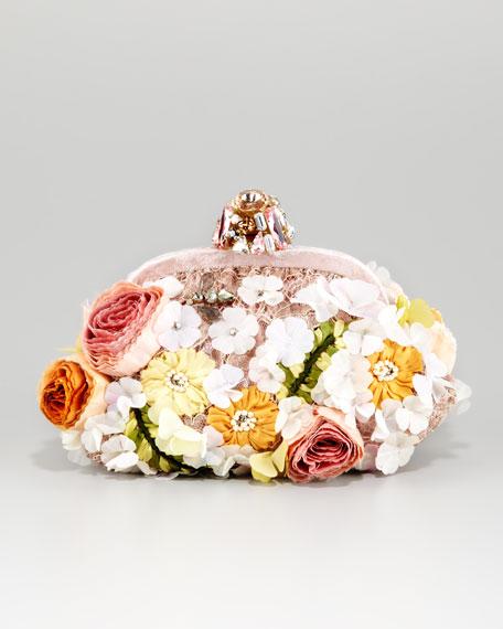 e60d2c59c8 Dolce   Gabbana Miss Dea Lace   Floral Pouchette Clutch Bag