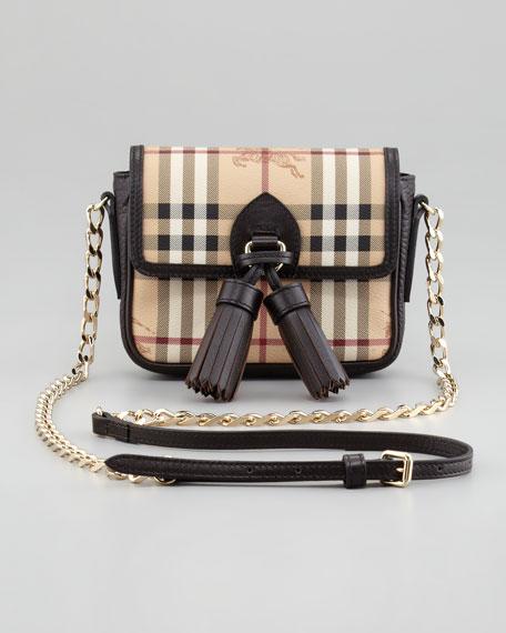 0c1541b807 Burberry Haymarket Check Mini Chain Crossbody Bag