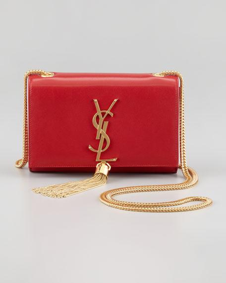 Cassandre Small Tassel Crossbody Bag Red