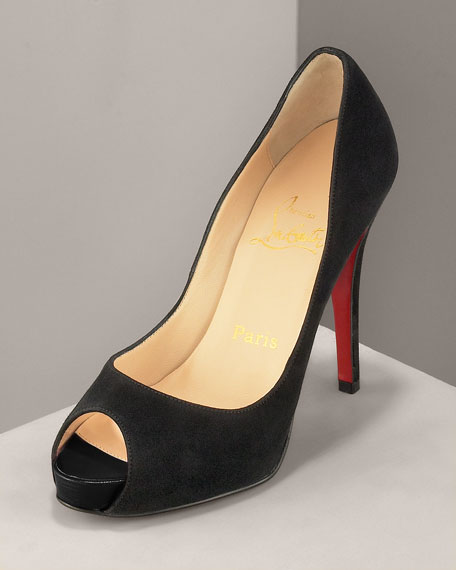 pretty nice cbc15 b7ff2 Suede Peep-Toe Pump