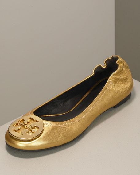 ef5a90aca Tory Burch Reva Metallic Ballet Flat