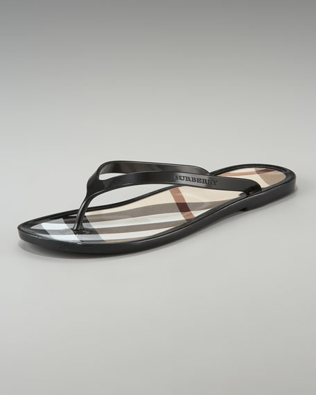 83de8c0d4c Burberry Signature Check Jelly Flip-Flop