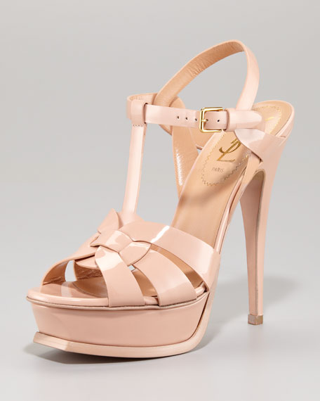 f37a5fae80c Yves Saint Laurent Patent Leather Tribute Sandal