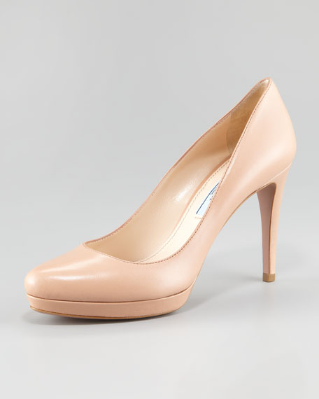 buy cheap ebay Prada Leather Rounded-Toe Pumps cheap sale many kinds of tumblr discount with mastercard nicekicks online eXYDPhjtEQ