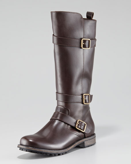 1944ca67b80c7 Manolo Blahnik Varobasso Triple Buckle Mid-Calf Boot