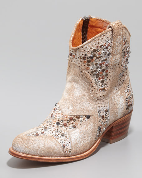 434cb0b73bf Frye Deborah Star-Studded Ankle Boot, White