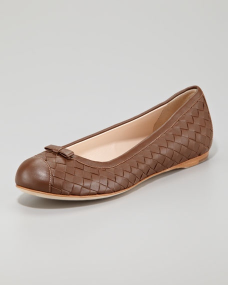 Leather ballerinas Bottega Veneta 5RmaL