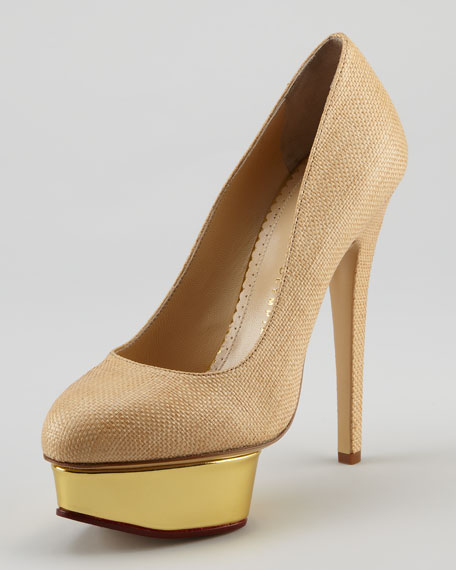 best place for sale cheap visit new Charlotte Olympia Dolly Raffia Pumps finishline cheap price kdPeWkqcnK