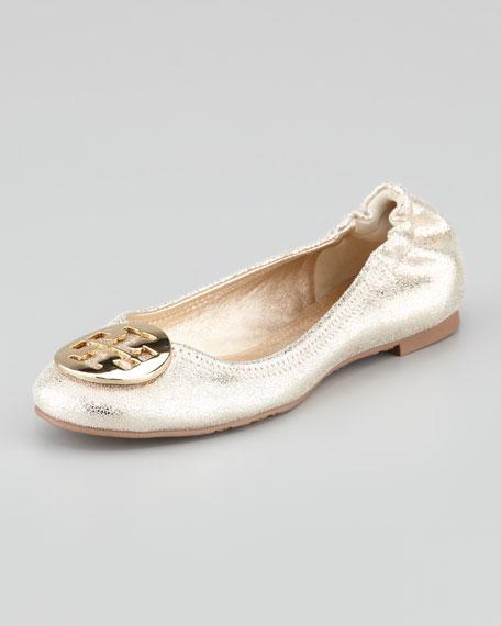 b644a5ebead40 Tory Burch Reva Vintage Metallic Ballet Flat
