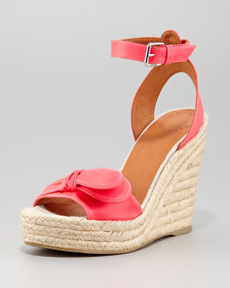 169c45fb2a MARC by Marc Jacobs Pretty Knot Neon Canvas Wedge Sandal, Pink