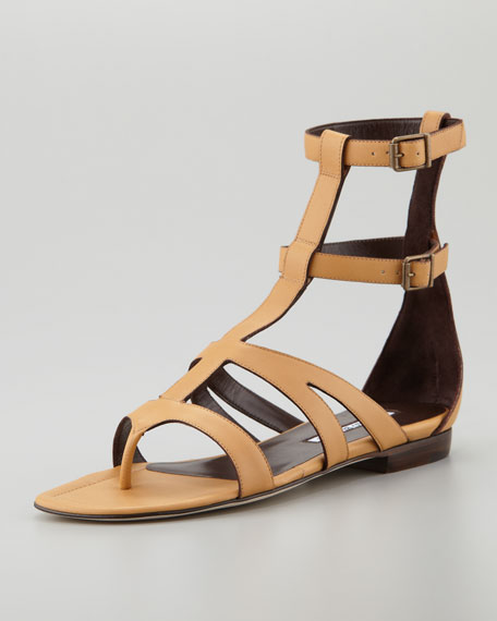c508db69763 Manolo Blahnik Eliza Flat Gladiator Sandal
