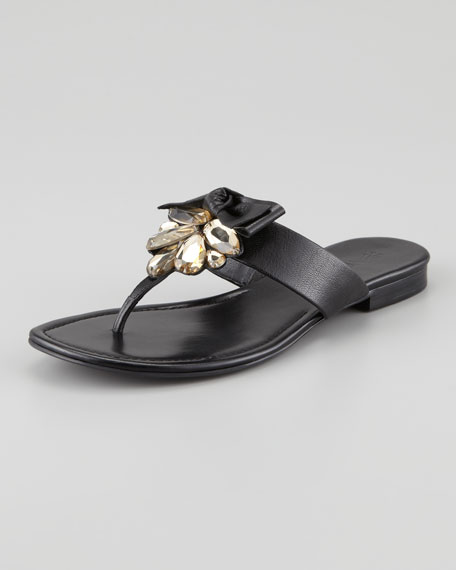 cbd7c1802ca4 Vera Wang Lavender Jeweled   Bow Thong Sandal