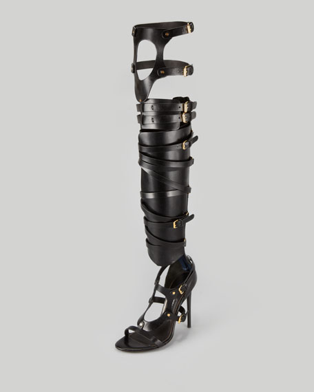 27cbaa97239 Tom Ford Strappy Buckled Sandal Boot