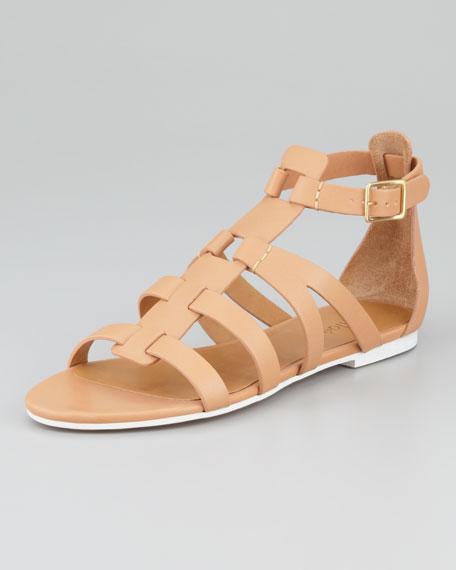 Sandal Gladiator Strap Groove Flat T BQxeCordWE