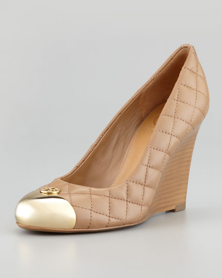 425db95901f9 Tory Burch Kaitlin Quilted Cap-Toe Wedge