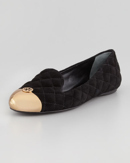 0e6f965bf95 Tory Burch Kaitlin Quilted Suede Smoking Slipper