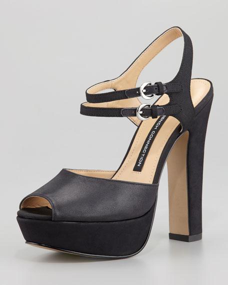 Black Gabby Platform Ankle Sandal Wrap Ib6gvYf7y