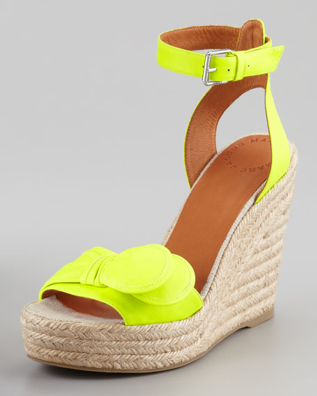 b0d79a40cae MARC by Marc Jacobs Pretty Knot Neon Canvas Wedge Sandal