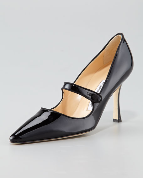 fashion Style cheap online Manolo Blahnik Pointed-Toe Mary Jane Pumps with paypal cheap online bEj7YEJZeo