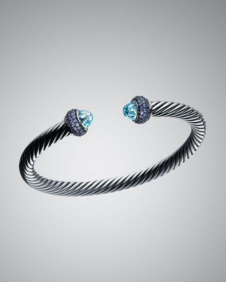 5mm Blue Topaz Cable Candy Bracelet