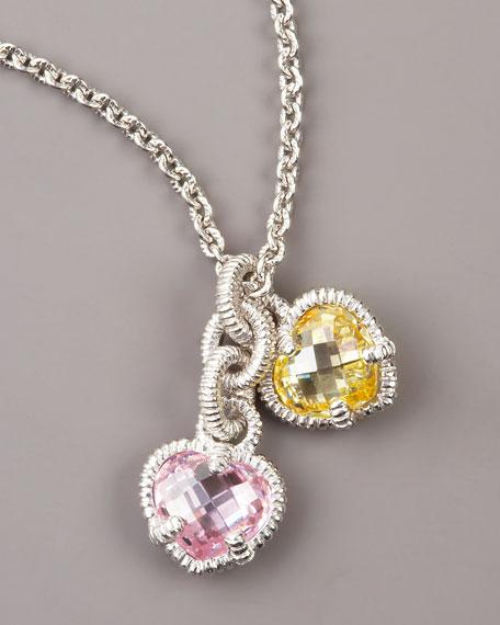 Judith ripka heart charm necklace judith ripka heart charm necklace heart charm necklace aloadofball Images