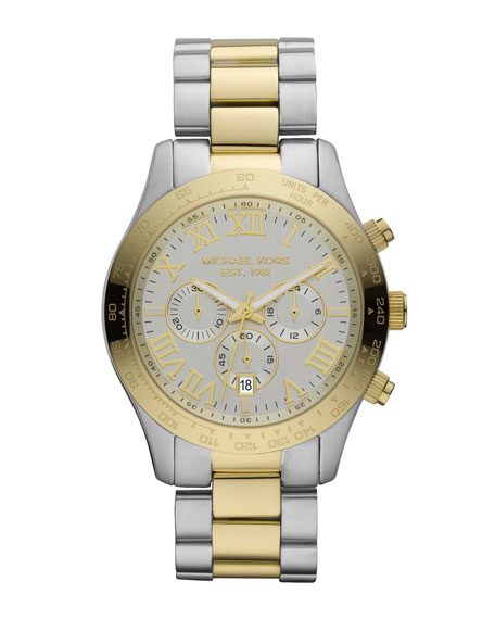 Layton Chronograph Watch, Silver-Color/Golden