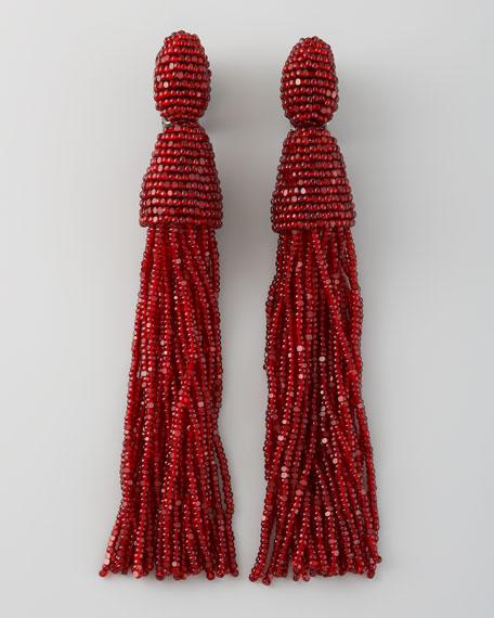 Beaded tassel earrings Oscar De La Renta tcF6sT