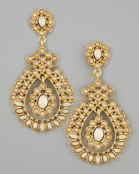 Amrita singh beaded chandelier earrings mozeypictures Image collections
