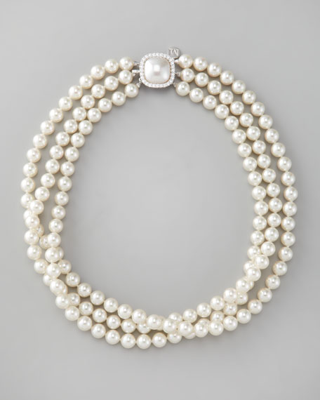 9f87a6d2f6bc0 Three-Strand Pearl Necklace