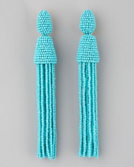 Oscar De La Renta beaded tassel earrings - Green DCz79xMCx9