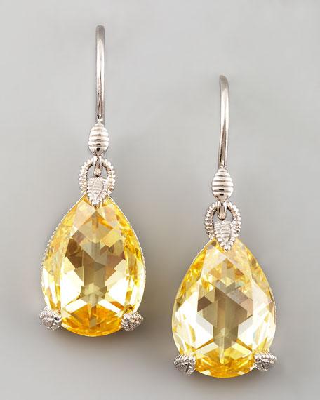 Judith Ripka Canary Crystal Teardrop Earrings