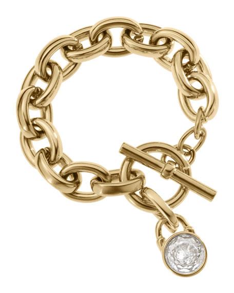 Chain Link Padlock Bracelet Golden