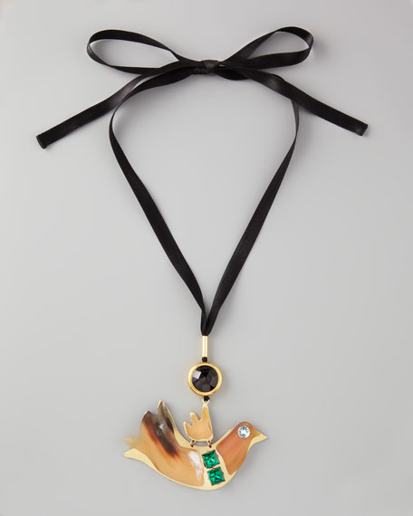 ribbon mu bird pendant prod marni p necklace