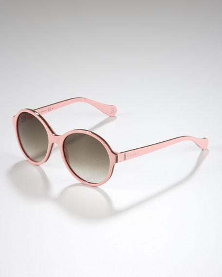 a727d437bb7 Gucci childrens oversized glam sunglasses pink green pink jpg 456x570 Girls gucci  sunglasses