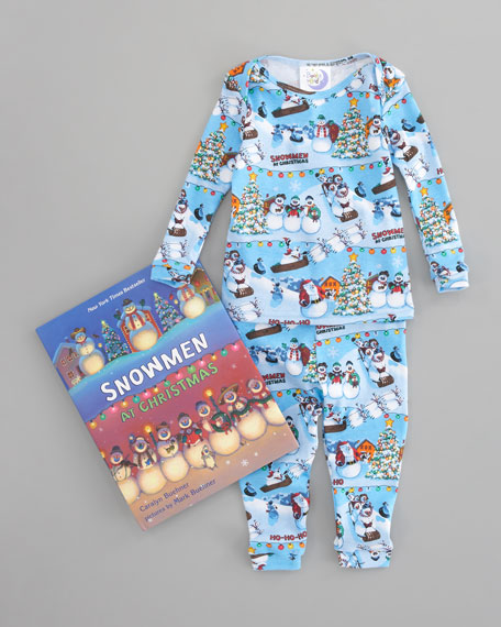 Snowmen At Christmas.Snowmen At Christmas Pajamas And Book Set