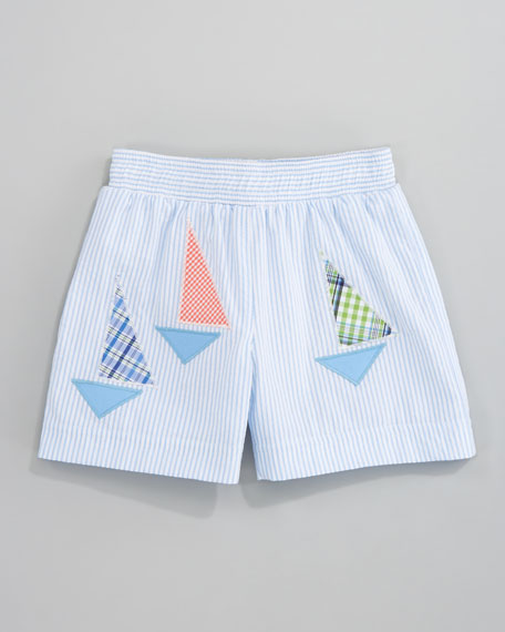 97bee04b48e91 Florence Eiseman Stay the Course Swim Shorts, Sizes 6-9 Months