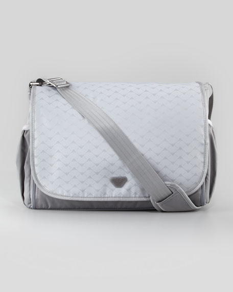 9298e4218dcd Armani Junior Logo-Print Diaper Bag