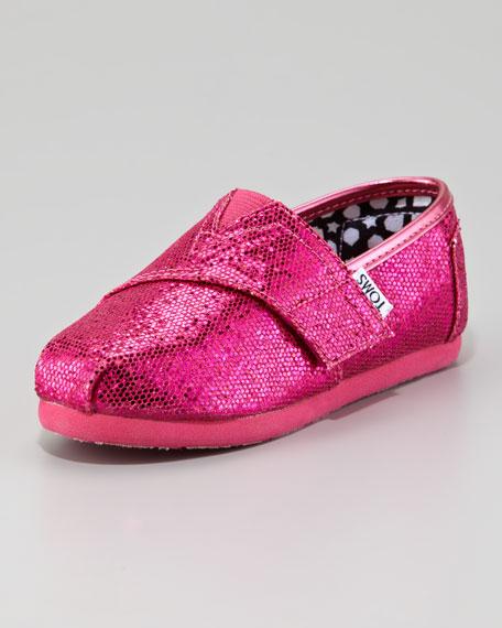 96df4b60b5d TOMS Hot Pink Glitter Shoe