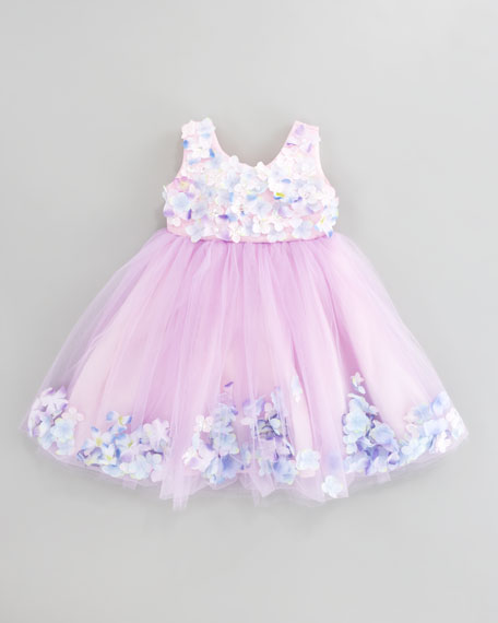 Fleur Bleu Tulle Dress, Sizes 2T-3T
