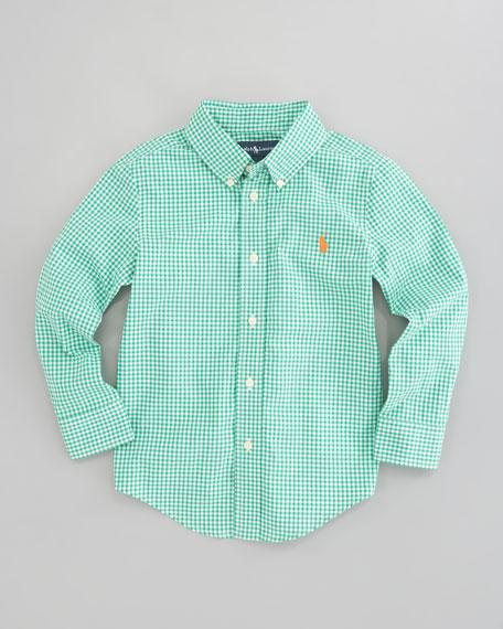 41bbd677c Ralph Lauren Childrenswear Blake Long Sleeve Gingham Shirt, Green ...