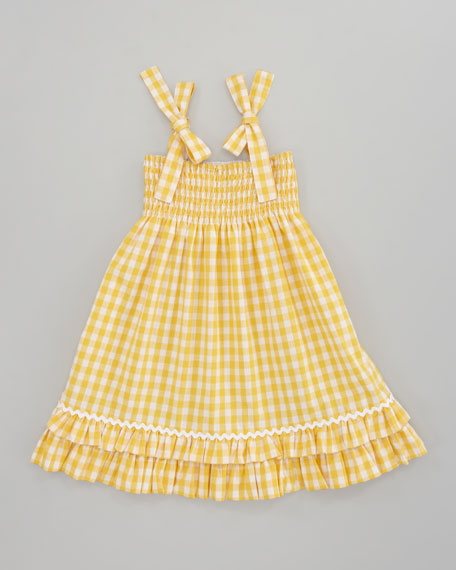 Sara Madras Plaid Dress, Yellow